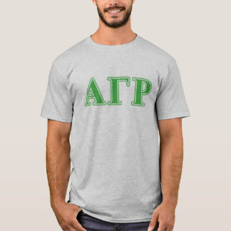 Alpha Gamma Rho Green Letters T-Shirt