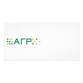 Alpha Gamma Rho - Letters Horizontal Customized Photo Card