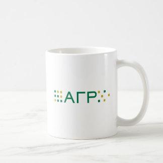 Alpha Gamma Rho - Letters Horizontal Basic White Mug