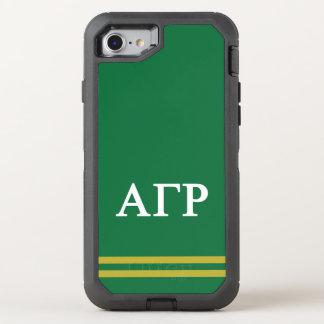 Alpha Gamma Rho | Sport Stripe OtterBox Defender iPhone 8/7 Case