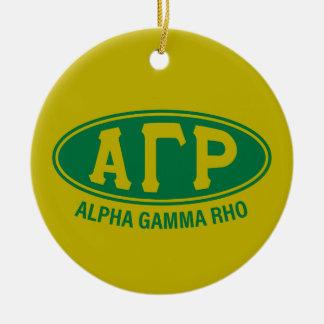 Alpha Gamma Rho | Vintage Ceramic Ornament