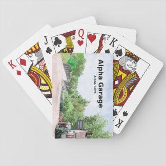 Alpha Garage Playing Cards