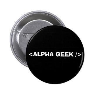 <ALPHA GEEK /> 6 CM ROUND BADGE