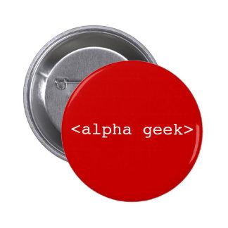 <alpha geek> 6 cm round badge