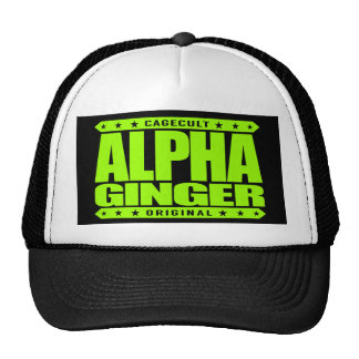 ALPHA GINGER - A Red-Haired Pale Warrior, Lime Cap