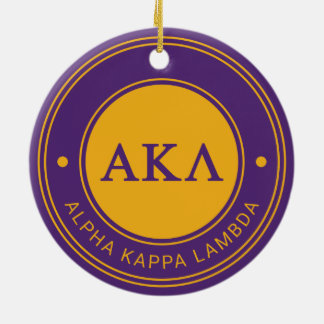 Alpha Kappa Lambda | Badge Ceramic Ornament