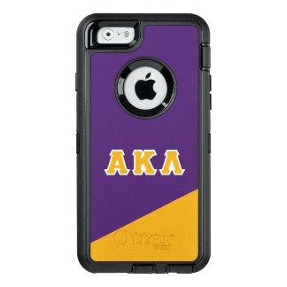 Alpha Kappa Lambda   Greek Letters OtterBox Defender iPhone Case