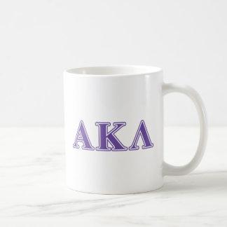 Alpha Kappa Lambda Purple Letters Mug