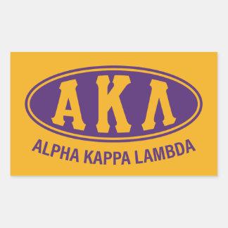 Alpha Kappa Lambda | Vintage Rectangular Sticker