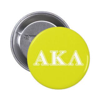 Alpha Kappa Lambda White and Yellow Letters 6 Cm Round Badge