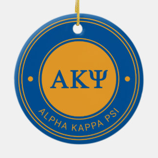 Alpha Kappa Psi | Badge Round Ceramic Decoration