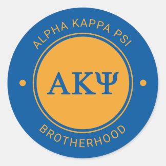 Alpha Kappa Psi | Badge Round Sticker