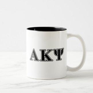 Alpha Kappa Psi Black Letters Mugs