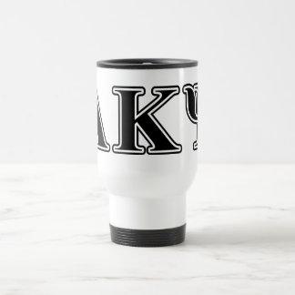 Alpha Kappa Psi Black Letters Mug