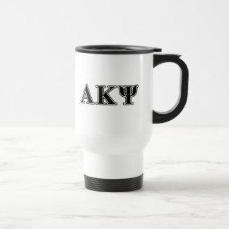 Alpha Kappa Psi Black Letters Coffee Mugs