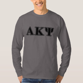 Alpha Kappa Psi Black Letters T-Shirt