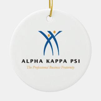 Alpha Kappa Psi Name and Logo Ceramic Ornament