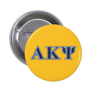Alpha Kappa Psi Navy Letters 6 Cm Round Badge