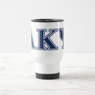 Alpha Kappa Psi Navy Letters Coffee Mugs