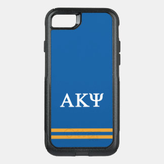 Alpha Kappa Psi | Sport Stripe OtterBox Commuter iPhone 8/7 Case