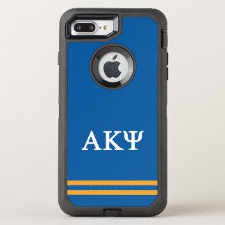 Alpha Kappa Psi | Sport Stripe OtterBox Defender iPhone 8 Plus/7 Plus Case