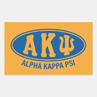 Alpha Kappa Psi | Vintage Rectangular Sticker