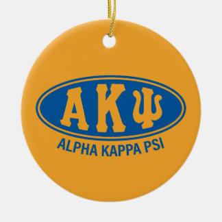 Alpha Kappa Psi | Vintage Round Ceramic Decoration