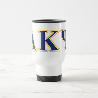 Alpha Kappa Psi Yellow and Navy Letters Mug