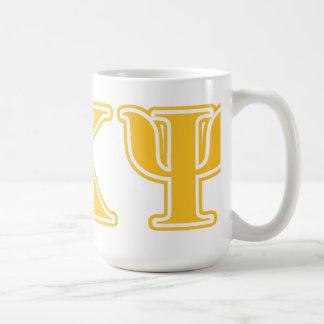 Alpha Kappa Psi Yellow Letters Mug