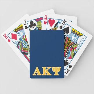 Alpha Kappa Psi Yellow Letters Bicycle Card Decks