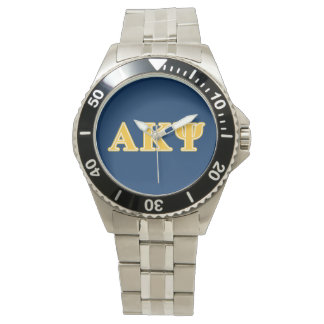 Alpha Kappa Psi Yellow Letters Watch