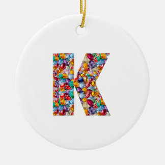 Alpha kay ppp Fashion Clothing Gifts Jewel k p fun Double-Sided Ceramic Round Christmas Ornament