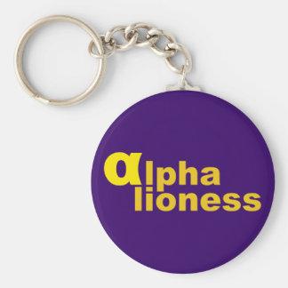 alpha lioness key ring