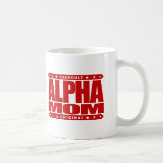 ALPHA MOM - I'm a Domestic Warrior Goddess, Red Coffee Mug