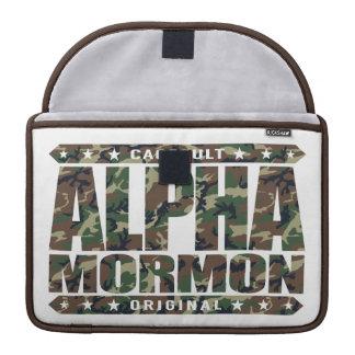 ALPHA MORMON - Church of Latter-day Saints, Camo Sleeve For MacBooks