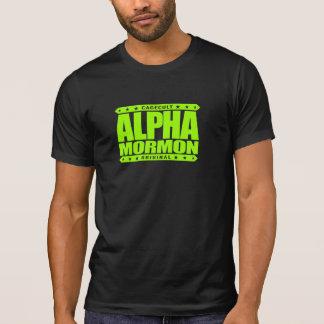 ALPHA MORMON - Church of Latter-day Saints, Lime Tshirts