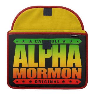 ALPHA MORMON - Church of Latter-day Saints, Rasta Sleeves For MacBooks