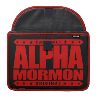 ALPHA MORMON - Church of Latter-day Saints, Red MacBook Pro Sleeves