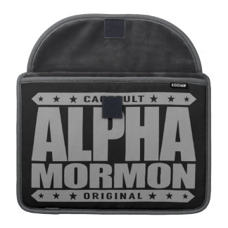 ALPHA MORMON - Church of Latter-day Saints, Silver Sleeve For MacBook Pro