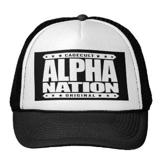 ALPHA NATION - We Love Mixed Martial Arts, White Cap