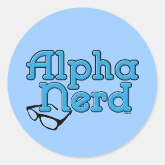 Alpha Nerd Sticker