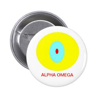 Alpha Omega 6 Cm Round Badge
