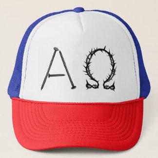 Alpha Omega Logo Trucker Hat
