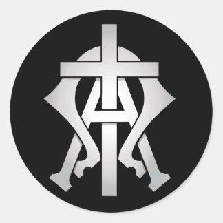 Alpha & Omega Round Sticker