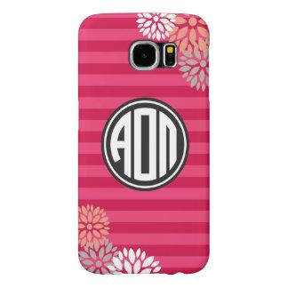 Alpha Omicron Pi   Monogram Stripe Pattern Samsung Galaxy S6 Cases
