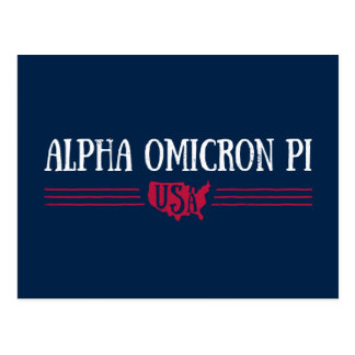Alpha Omicron Pi USA Postcard