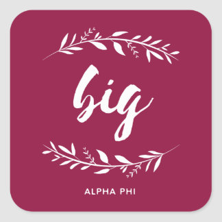 Alpha Phi | Big Wreath Square Sticker