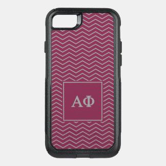 Alpha Phi | Chevron Pattern OtterBox Commuter iPhone 8/7 Case