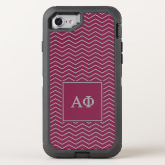 Alpha Phi | Chevron Pattern OtterBox Defender iPhone 8/7 Case