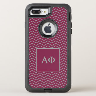 Alpha Phi | Chevron Pattern OtterBox Defender iPhone 8 Plus/7 Plus Case